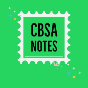 CBSA Notes